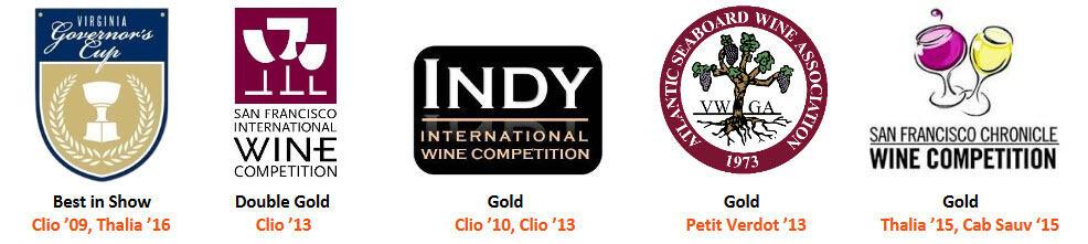 Wine Awards - Muse Vineyards