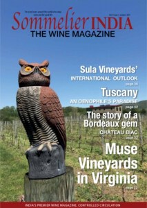 Sommelier India - Muse Vineyards Cover Story