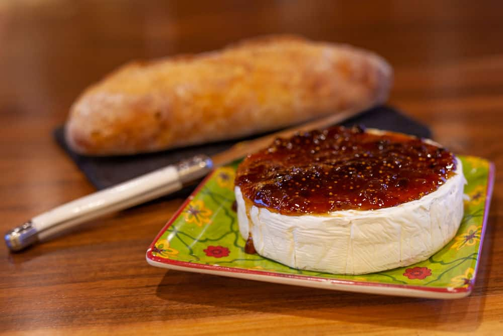 Brie Cheese with Fig Spread