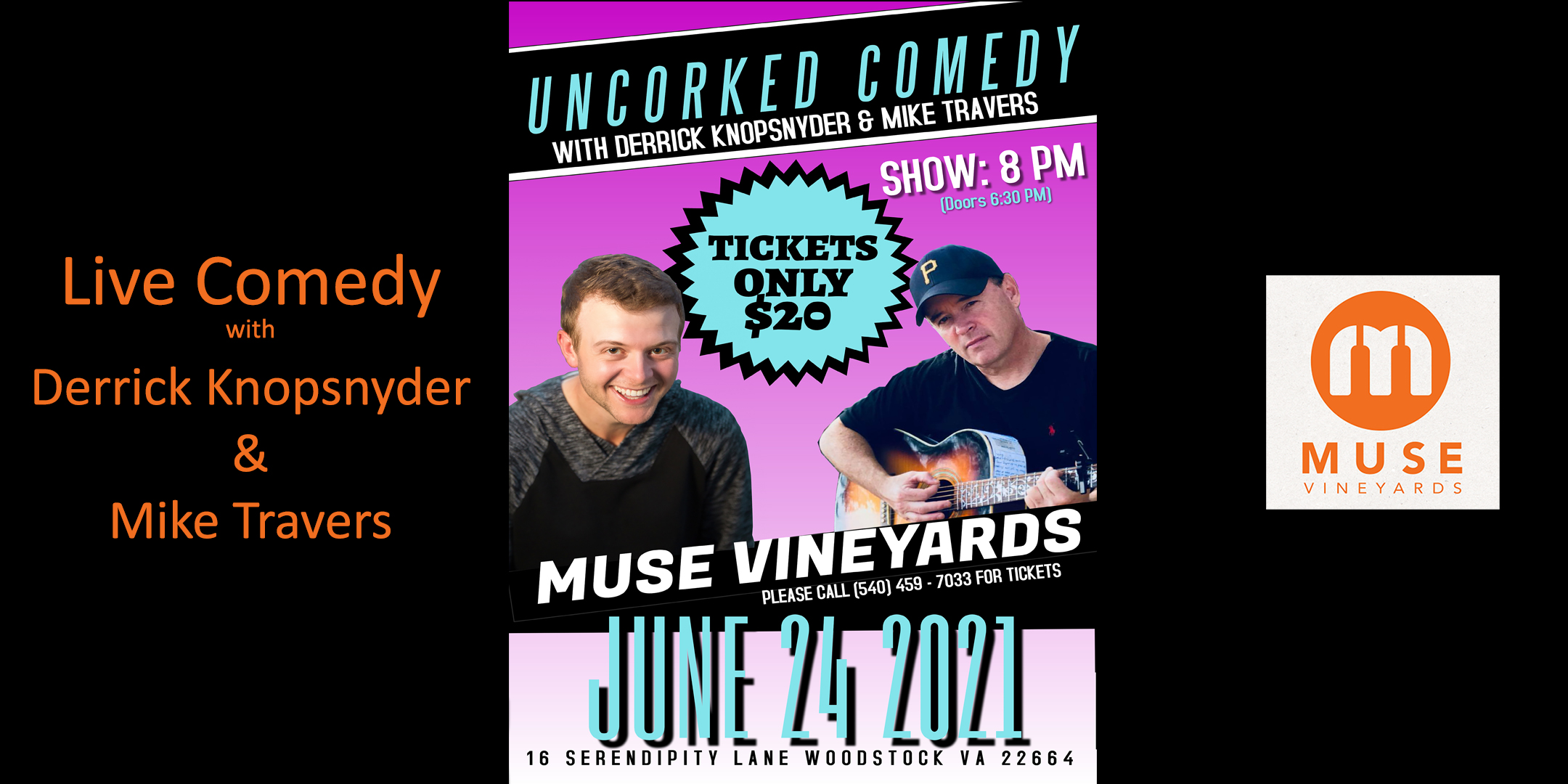 Comedy at Muse Vineyards